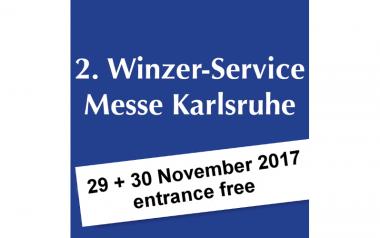 2. Winzer-Service Messe – we'll exhibit