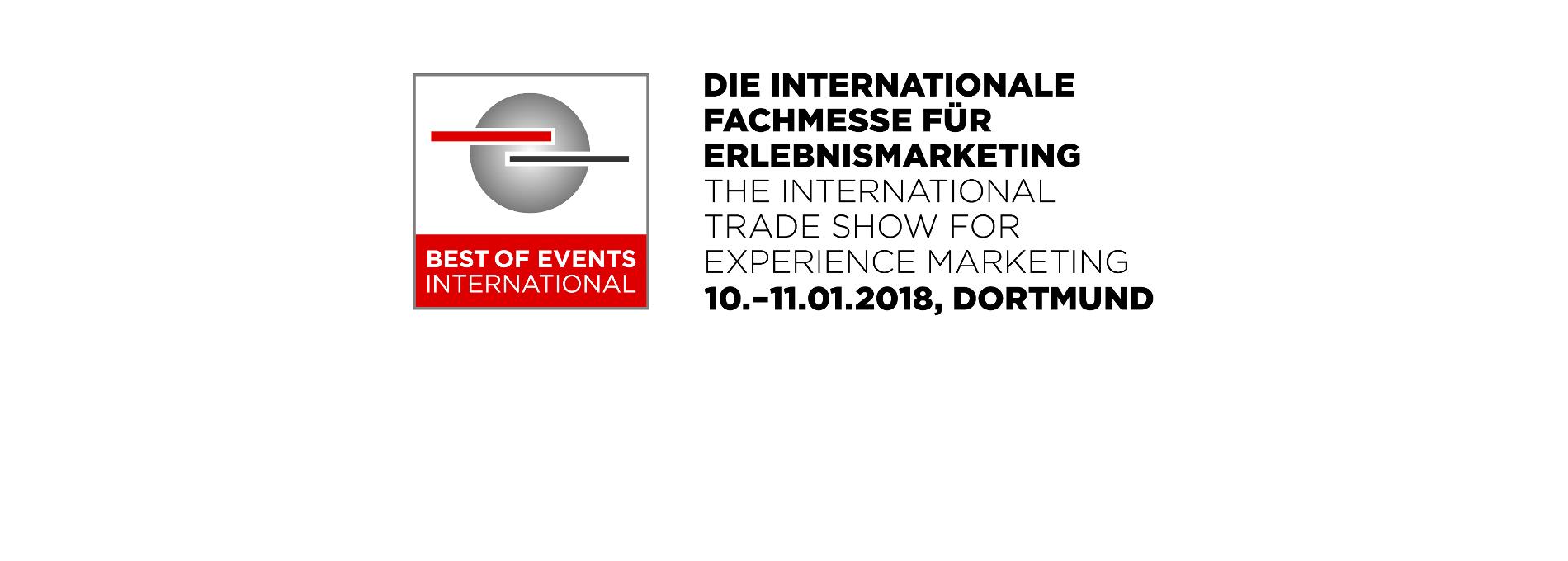 Logo der Best of Events 2018 in Dortmund