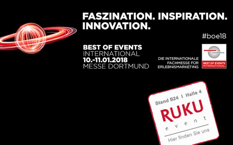 Logo der Best of Events 2018 in Dortmund mit unserer Messestandnummer B24, Halle 4