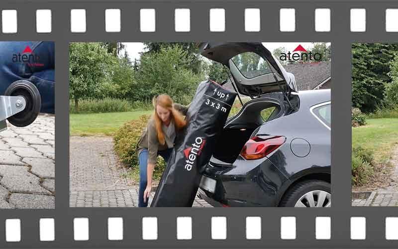 Ausschnitt aus der Filmrolle, der den einfachen Transport zeigt.