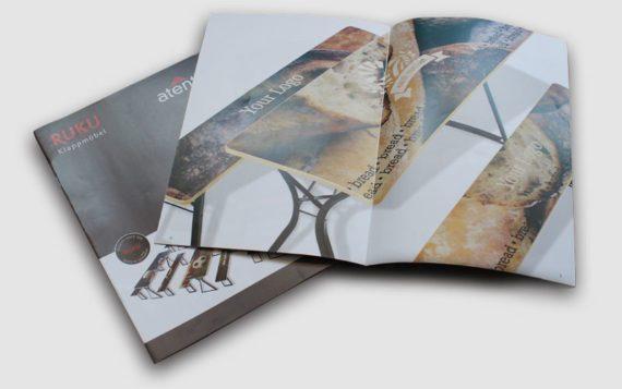 Der RUKU Katalog von den bedruckten Bierzeltgarnituren.