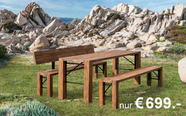 Lago-Designgarnitur-Aktion - Variante Tannenholz - für nur € 699,00