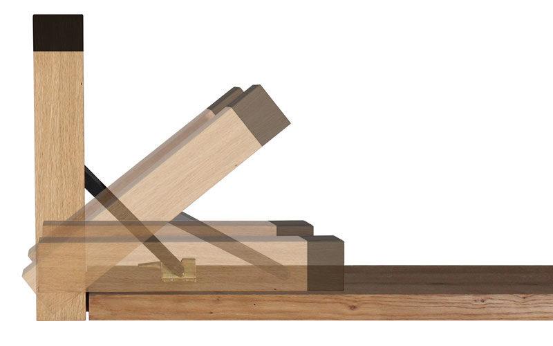 Der Klappmechanismus der Design-Garnitur