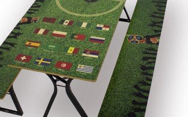 Vollflächig bedruckte Garnitur zur WM 2018