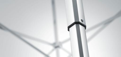 The aluminium profile of a canopy tent in detail.