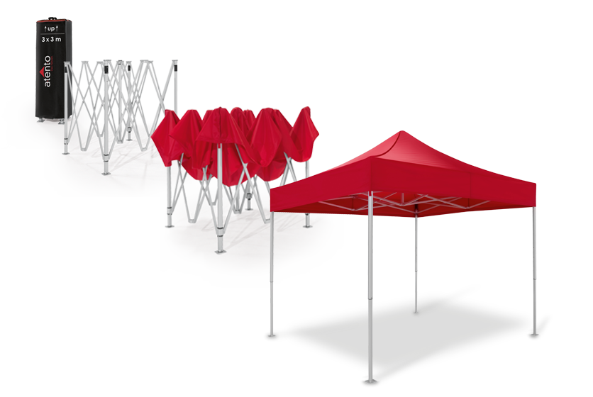 Step-by-step instructions how you can set up your canopy tent.