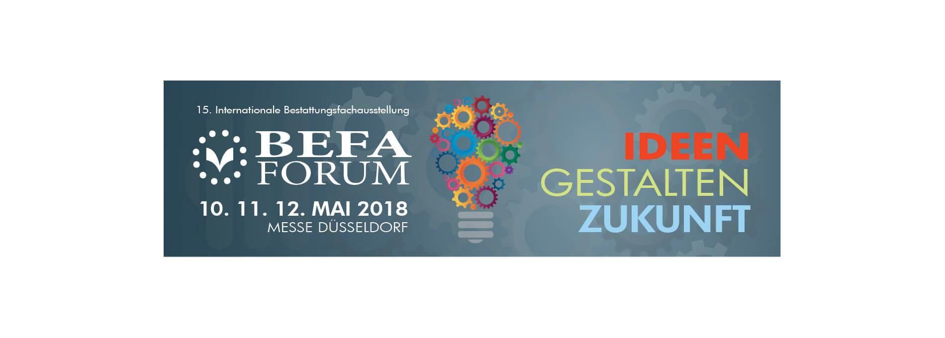 Logo der 15. Internationalen Bestattungsfachausstellung BEFA FORUM 2018