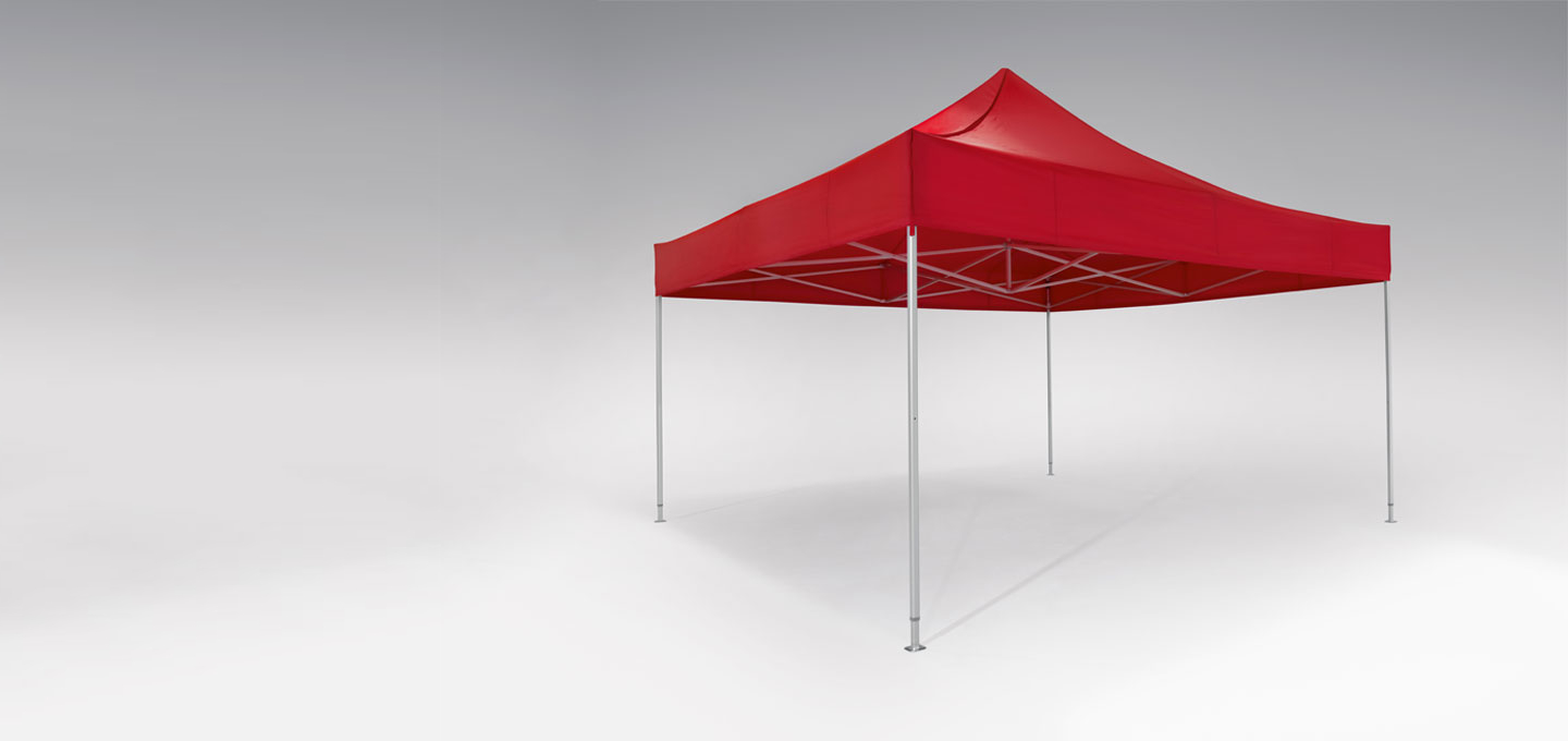 Red atento canopy tent 5x5 by RUKUevent