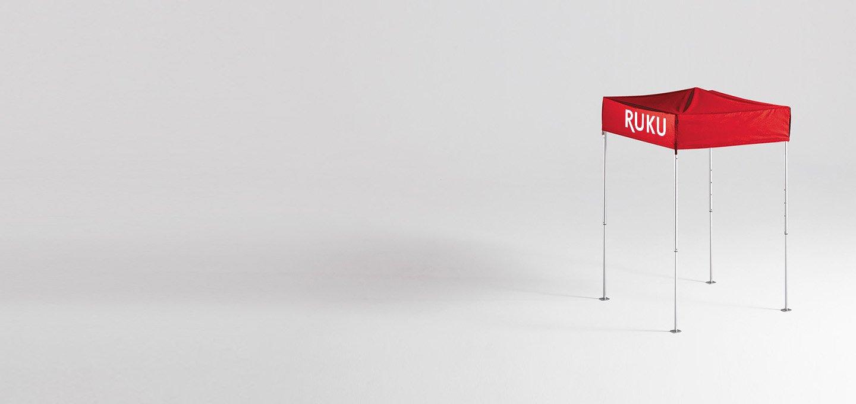 Roter atento Faltpavillon 1,5x1,5 m von RUKU.