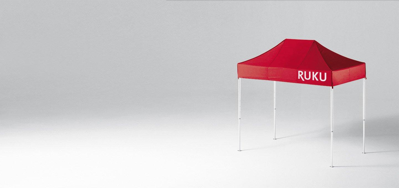 Roter atento Faltpavillon 3x1,5 m von RUKU.
