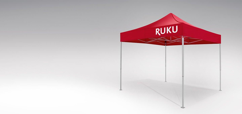 Roter atento Faltpavillon 3x3 m von RUKU.