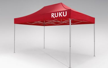 Roter atento Faltpavillon 4,5x3 m von RUKU.
