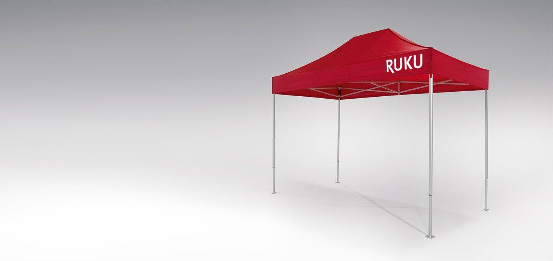 Roter atento Faltpavillon 4x2 m von RUKU.