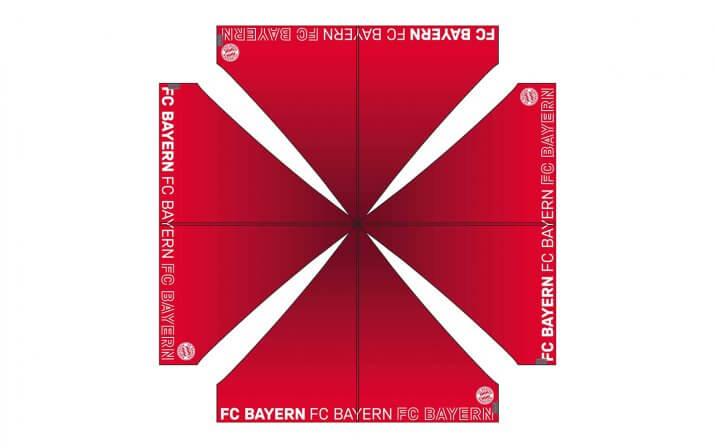 Layout der Dachbedruckung des Faltpavillons vom FC Bayern.