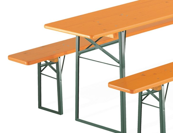 Folding table with 2 benches from RUKU.