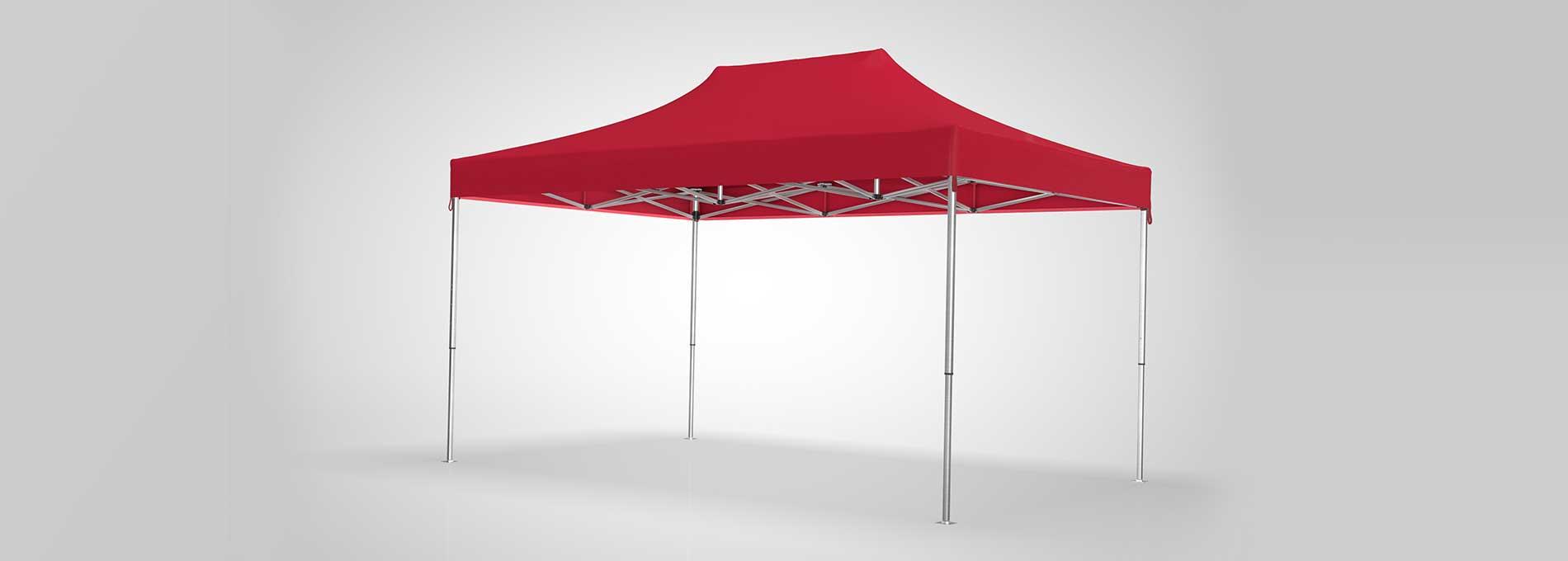 Roter Faltpavillon zum günstigen Preis.