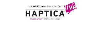 Logo der Messe HAPTICA - Erlebniswelt Haptische Werbung in Bonn