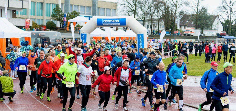 Teilnehmer beim ING-DiBa Marathon zum Welt-Down-Syndrom-Tag