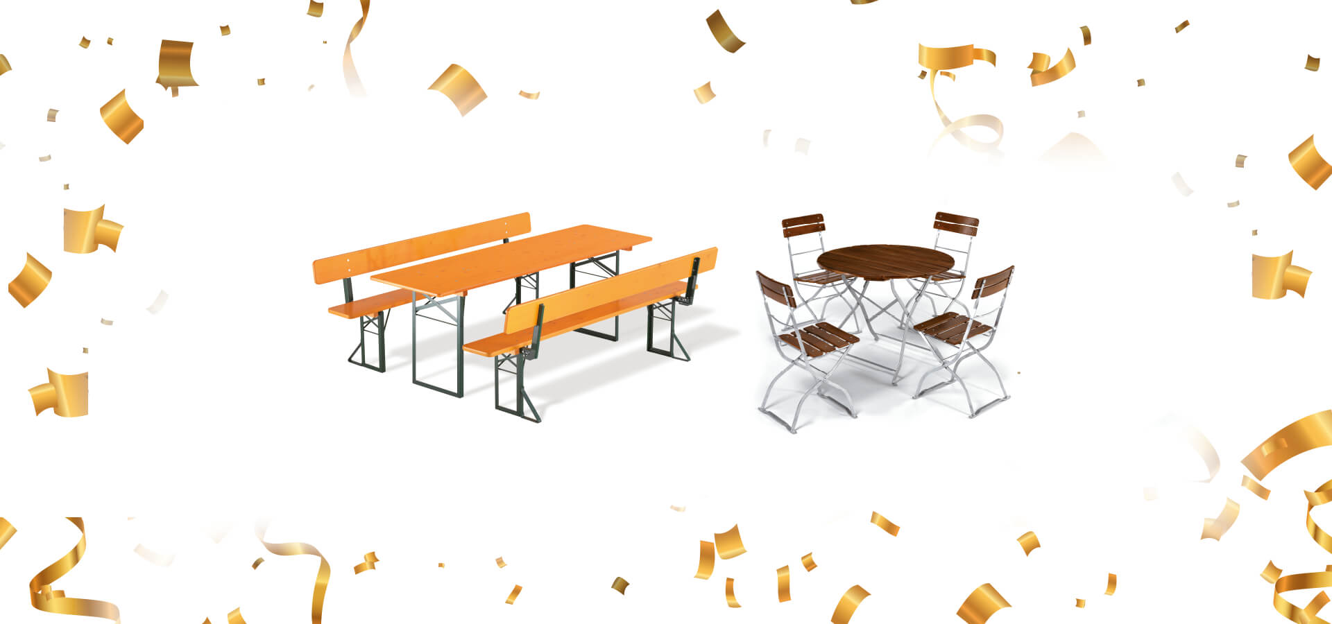 Großer Werksverkauf bei RUKUevent: Reduzierte Bierzeltgarnituren und Gartenmöbel