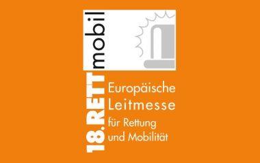Logo der 18. RETTmobil - Europäische Leitmesse für Rettung und Mobilität