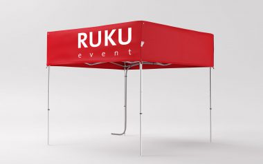 """Red folding tent """"Square"""" 3x3 m."""