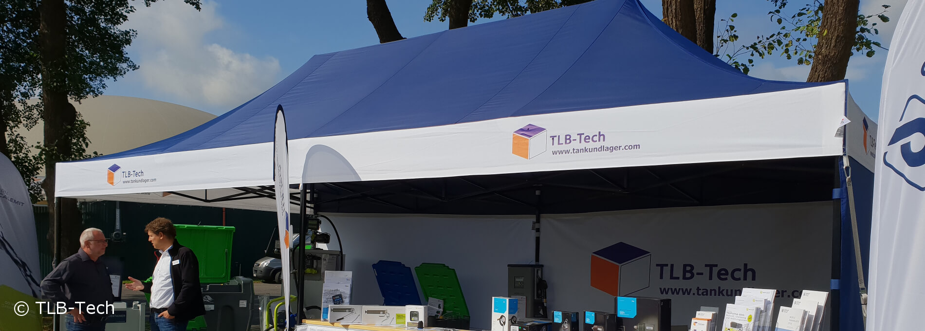 Blue, personalized canopy tent by TLB-Tech