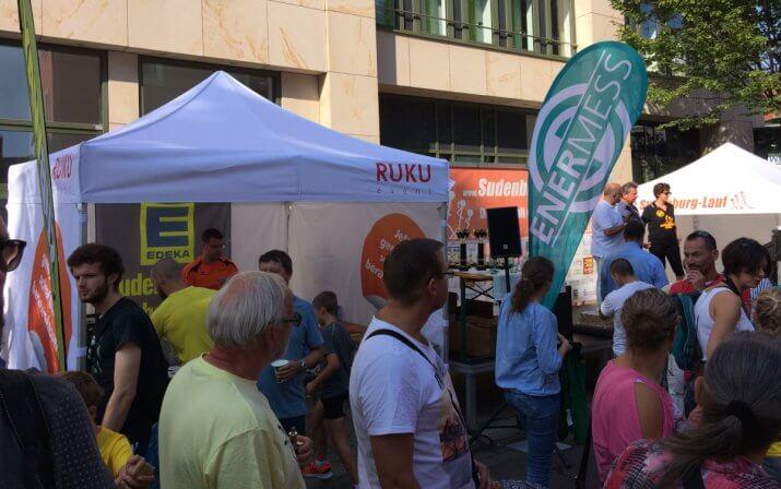 RUKUevent Faltpavillon beim Sudenburg Lauf.