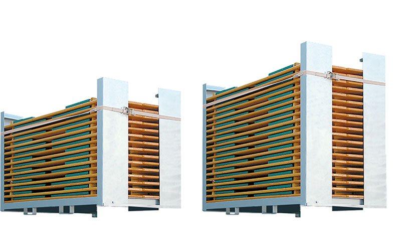 Praktische Transportboxen zum Transport von mehreren Bierzeltgarnituren.