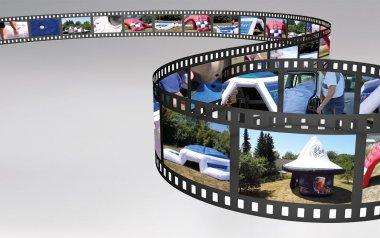 Videostreifen mit den Auszügen vom Film über die aufblasbaren Werbeträger.