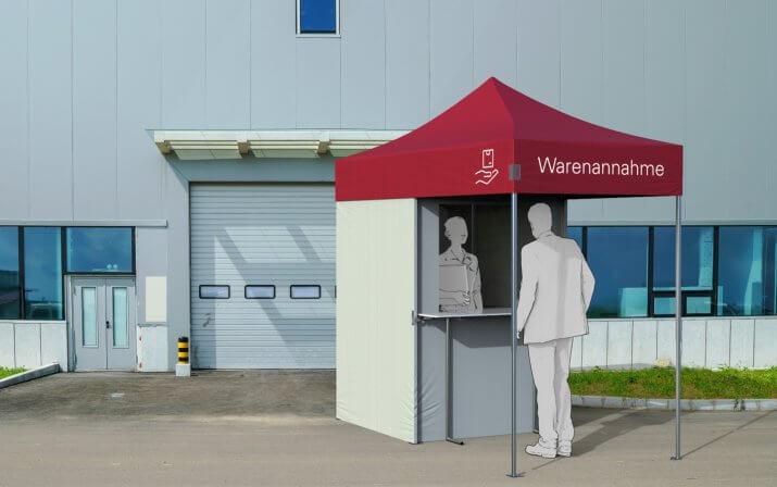 Ein 3D-Rendering der Warrenanhme-Station.